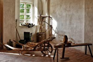 Rasensamen - Historische Gartengeräte